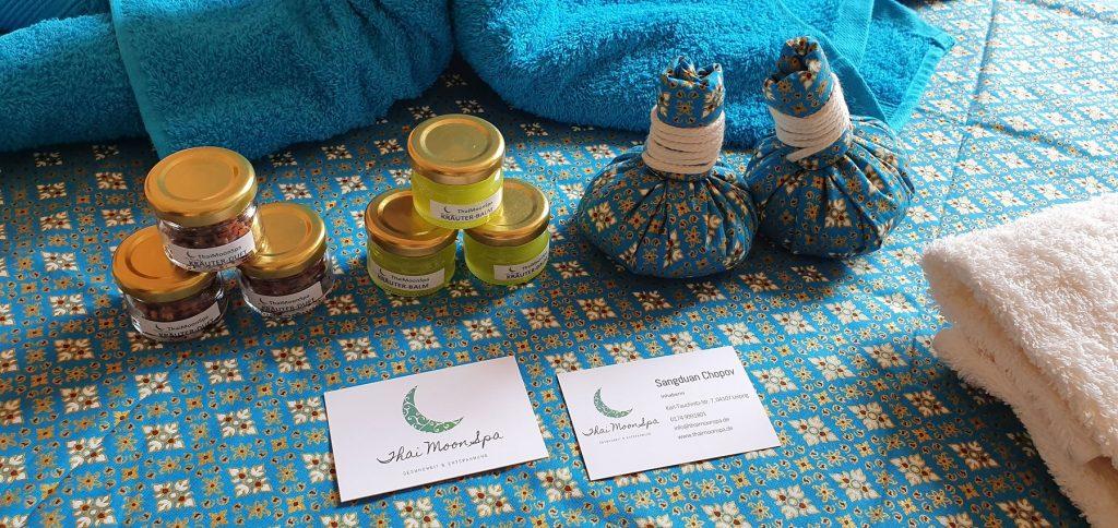 Massageprodukte aus eigener Herstellung - ThaiMoonSpa Massage